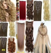 "Hair Extentions15 18 22"" Real Thick blonde hair extensions full head Feels Human"