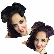 80s Large Lace Bow, Oversized Hair Bow, Fancy Dress 80s Hair accessory, popstar