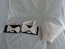 GG Rose Water Pink MENS or BOYS Polyester Bow tie and Hankie Set or Square Only