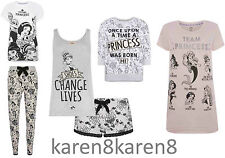 DISNEY PRINCESS COLLECTION Ladies Pyjamas Leggings T Shirt Primark UK 6-20
