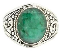 Brazilian Emerald Gemstone Ring Solid 925 Silver Jewelry IR31781