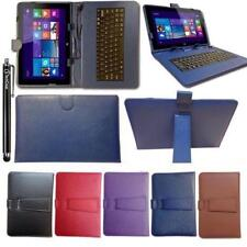 "Keyboard Case Leather Cover Stand Wallet Folio fits Bush Spira B1 8"" Inch Tablet"