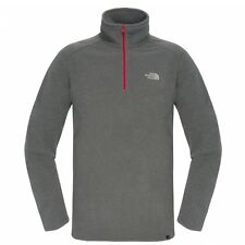 The North Face 100 Glacier Herren 1/4 Zip Fleece Pullover Graphite Grey Heather