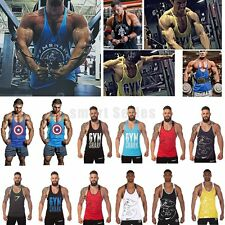 Mens Gym Bodybuilding Sleeveless Tank Tops Sport Muscle Fitness Undershirt Vest