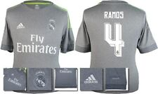 *15 / 16 - ADIDAS ; REAL MADRID AWAY SHIRT SS / RAMOS 4 = KIDS SIZE*