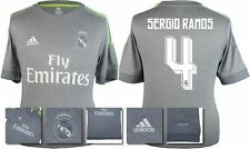 *15 / 16 - ADIDAS ; REAL MADRID AWAY SHIRT SS / SERGIO RAMOS 4 = KIDS SIZE*