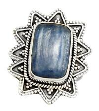 Natural Kyanite Gemstone Ring Solid 925 Sterling Silver Jewelry IR33357