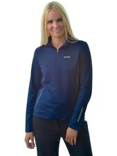 Catmandoo Ladies 1/2 Zip Neck Stretch Thermal Base Layer Top Navy Blue 40, 12/14
