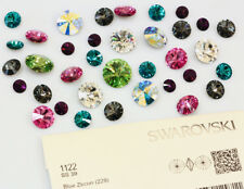 Genuine SWAROVSKI 1122 Rivoli Foiled Round Stones Glue Fix * All Sizes & Colors