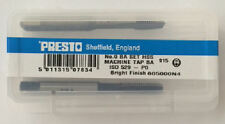 Presto UK 0BA Taps and Dies HSS First, second, plug / Direct from RDGTools