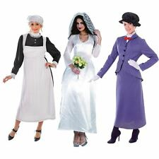 Victorian Maid Nany Mary Poppins Wedding 1900s Fancy Dress Halloween Costume