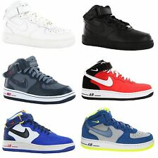 Nike Air Force 1 Mid Leather Kids Trainers