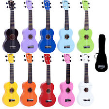 Left Handed Mahalo Soprano Ukulele Uke Fitted Aquila Strings and Gig Bag