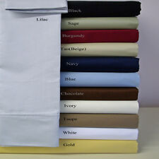 Queen Silky Soft Sheets Wrinkle-Free Solid Microfiber bed Sheet Set Deep Pocket