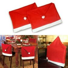 Santa Claus  Red Hat Chair Covers Christmas Decorations Dinner Chair Xmas