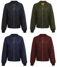 NEW MENS CLASSIC ZIP UP VINTAGE BOMBER JACKET AVIATOR BIKER RETRO COAT