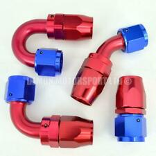 AN10 -10 10AN Braided Hose Fitting Red / Blue (Choose Angle) Demon Motorsport
