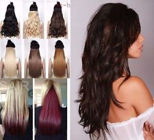 """Hair Extensions 18-28"""" Clip In Double Weft 1pc one piece back head Best quality"""
