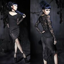 PUNK RAVE Nobility Skirt Gothic Rock Pencil Skirt Bleistiftrock EDEL