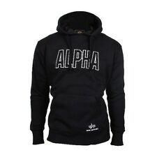 ALPHA Industries Track Hoody Sweat Kapuzenpullover Sweatshirt schwarz