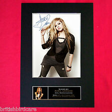 AVRIL LAVIGNE Signed Autograph Mounted Photo REPRODUCTION PRINT A4 219