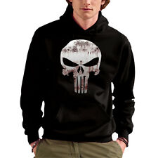 FELPA CAPPUCCIO SWEET HOODIE UNISEX THE PUNISHER IL PUNITORE MARVEL SKULL LOGO