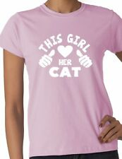This Girl Loves Her Cat Pet Ladies Gift T-shirt Size S-XXL