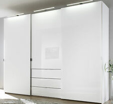 staud media schwebetuerenschrank kleiderschrank mit tv fach weiss breite 336 cm ebay. Black Bedroom Furniture Sets. Home Design Ideas