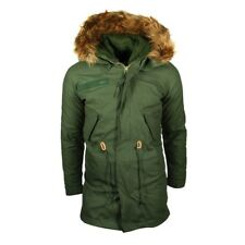 Alpha Industries vintage uomo FISHTAIL PARKA OLIVA giacca giacca invernale