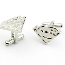 Mens Pair of Novelty Silver Superman Cufflinks Super Hero
