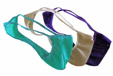 Men's Rio String Thong LATEX RUBBER Shiny Jelly Colors FETISH Kinky Made in USA