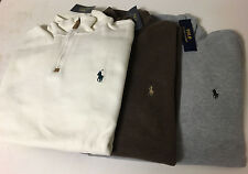 NWT Polo Ralph Lauren FRENCH RIB Pima Soft-Touch Pullover 1/2 ZipSize S/M/L/XL