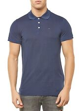 NEU TOMMY HILFIGER HERREN SHIRT BASIC LIGHT PIQUE POLO S/S 15 BLAU NAVY BLUE