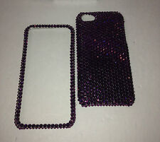 Purple BLING Case For IPhone 4 5 6 6s 4.7 Plus 5.5 Made With SWAROVSKI Elements