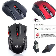 2.4Ghz Mini portatile Ottico Wireless 2400 DPI USB Mouse Da Giochi Per PC Laptop