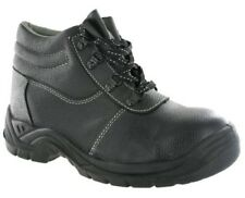 Centek Black Steel Toe Cap Safety Leather Work Formal Boots Mens UK3-13