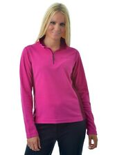 Catmandoo Thermal Fleece Base Layer 1/4 Zip Golf Top Fuchsia Pink / Wine 14, 18