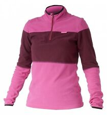 Catmandoo Thermal Fleece Base Layer 1/4 Zip Golf Top Fuchsia Pink Block Panel 12