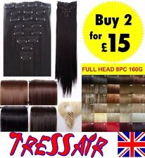 Hair Extensions Clip in Hair Full Head 18-22 Inches 8PCS Real deluxe cheap sale