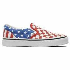 Vans Classic Classic Slip On White Red Blue Womens Trainers