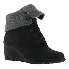 Timberland Earthkeepers Amston Roll Top Black Womens Boots