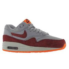 Nike Air Max 1 Essential Grey Red Womens Trainers