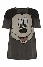 DISNEY MICKEY MOUSE T Shirt Primark Acid Wash Tee Top