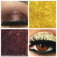 Glitter Eyes - Duo Coffee & Gold Holographic Eye Shadow Fixing gel Long Lasting