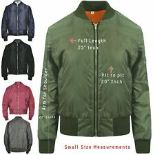 Womens MA1 Classic Bomber Jacket Ladies Vintage Style Zip Up Biker Stylish Coat