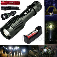 CREE XM-L T6/Q5 2000LM LED Taschenlampen Torch Zoomable Lamp Licht 5-Modes Power