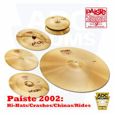 "Paiste 2002 Cymbals: Sound Edge Hi-Hats/Crash/Ride/China/Novo Cymbal (14"" - 24"")"