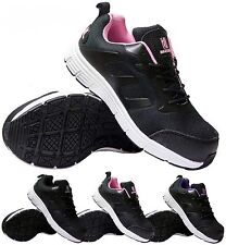 MENS LADIES UNISEX BLACK LIGHT WEIGHT WORK SAFETY STEEL TOE CAP TRAINERS SHOES