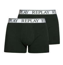 Replay 2er Pack Cotton Stretch Shorts 2Pack Boxer Brief, S-XXL - Schwarz