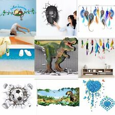 3D Widow Wall Sticker Nursery Decal Room Background Decor Mural Removable New UK